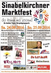 Sinabelkirchner Marktfest 2016