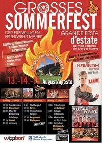Grosses Sommerfest der freiwilligen Feuerwehr Mareit@Festplatz Mareit
