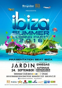 IBIZA Summer Closing PARTY feat. Dominique Jardin & Envegas hosted by Birngruber Krems@Birngruber