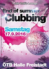 End of summer Clubbing@ÖTB-Halle