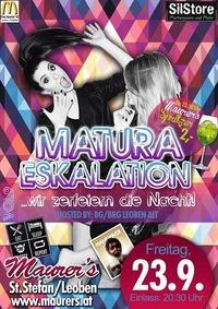 Matura Eskalation Vol.9 - Maturaparty Bg/Brg Leoben alt@Maurer´s