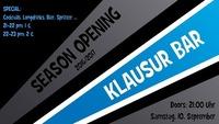 Season Opening 2016/2017 @Klausur Bar@Klausur Bar