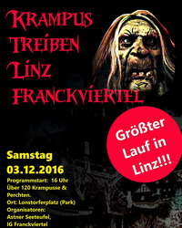 Krampus Treiben Linz Franckviertel@Lonstorferplatz ( Park)