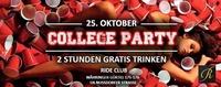 College Party - 2 Stunden gratis trinken@Ride Club