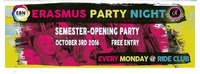 Erasmus Party Night - Semester Opening Party@Ride Club