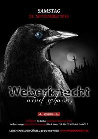 Weberknecht wird schwarz (Gothic, Dark Electro, EBM, 80er, Crossover)@Weberknecht