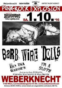 BARB WIRE DOLLS / The Zsa Zsa Gabor's / I'm A Sloth@Weberknecht