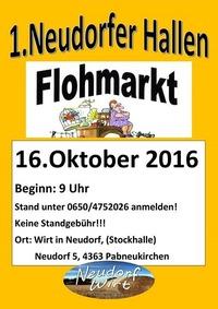 1.Neudorfer Hallenflohmarkt@Neudorf Wirt