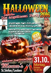 Maurer's Halloween - Angsthasenparty 2016@Maurer´s