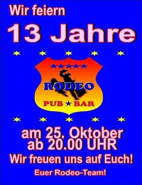 13 Jahre RODEO BAR SAALFELDEN@Rodeo Bar Saalfelden