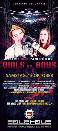 GIRLS vs. BOYS - KAMPF der Geschlechter@Salzhaus
