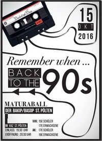 Remember when - Back to the 90's@VAZ St.Pölten