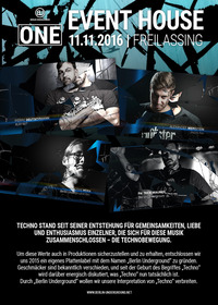 ONE - Anniversary Release Party - 1 Year of Berlin Underground@Eventhouse Freilassing