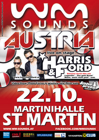 WM-SOUNDS mit Star-Act HARRIS & FORD@Martinihalle