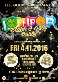Lollipop Black & Gold Party