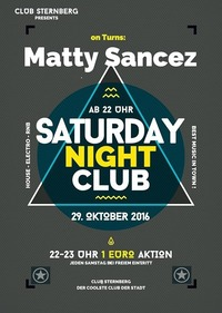 ► Saturday Night Club /w Matty Sanchez ►@Club Sternberg