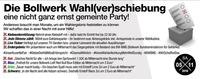 Die Bollwerk Wahl(ver)schiebung – eine nicht ganze ernst gemeint@Bollwerk Klagenfurt