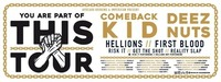 EARLY SHOW Deez Nuts / Comeback Kid / First Blood / Risk It@Arena Wien