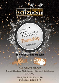 Thirsty Thursday/DJ ONE/DJ daKaos@Salzbar