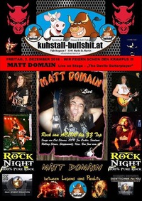 Krampusparty - Matt Domain Live on Stage - The Rocklegend!@Kuhstall