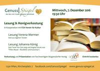 Lesung & Honigverkostung im Kunst-Café Genuss-Spiegel in Wien-Atzgersdorf@Genuss-Spiegel - Café, Kunst & Kulinarik
