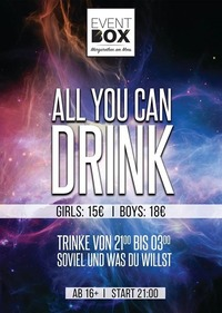 All You Can Drink at Event Box@The Cube Disco