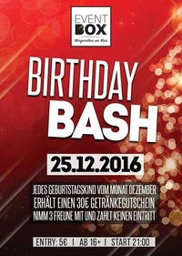 Birthday Bash December@The Cube Disco
