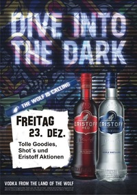 Dive into the dark with Eristoff@Tanzcafe Waldesruh