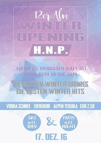 12er Alm Winter Opening@12er Alm Bar