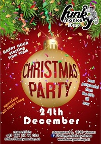 FUNKY Christmas Party! - Saturday December 24th 2016@Funky Monkey