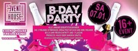 B-Day Bash Januar 2017@Eventhouse Freilassing