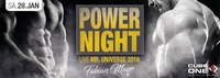 Cube One - Power Night mit MR. Universe 2016 - Fabian Mayr@Cube One