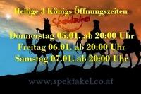 Heilige 3 Königs Öffnungszeiten@Spektakel