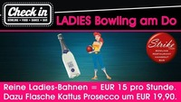 Ladies Bowling jeden Donnerstag im Check In@Check in