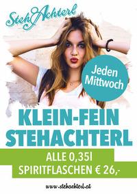 Klein-Fein-Stehachterl@Stehachterl