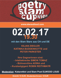 Poetry Slam Cup Wien mit 3 ! Stars aus DT / CH.@Aera