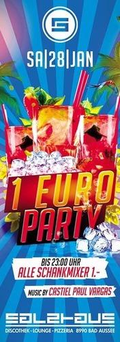 1 EURO PARTY@Salzhaus