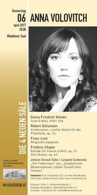 Der Wiener Musikverein präsentiert: Anna Volovitch, die russische Konzertpianistin, Preisträgerin von internationalen Wettbewerb@Wiener Musikverein