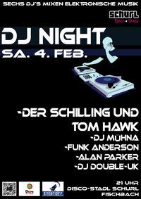 Dj-Night Sechs DJs mixen elektronische Musik@Disco-Stadl Schurl