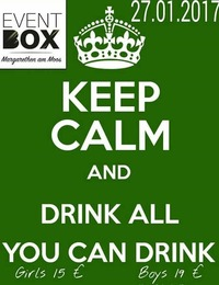 ♕ All you can drink / 27.01 / Eventbox ♕@The Cube Disco