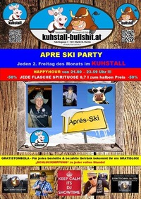 2. Freitag im Monat - Apre Ski Party im Kuhstall - Bullshit@Kuhstall