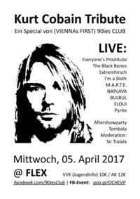 Kurt Cobain Tribute zum 23. Todestag@Flex