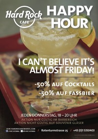 ALMOST FRIDAY: Happy Hour im Hard Rock Cafe@Hard Rock Cafe Vienna