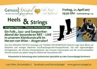 HEELS AND STRINGS – LIVE – im Kleinkunst-Café Genuss-Spiegel – Café, Kunst & Kulinarik – in 1230 Wien-Atzgersdorf@Genuss-Spiegel - Café, Kunst & Kulinarik