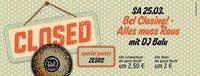 Bel Closing! Alles muss raus mit DJ Balu & Zesrs@Disco Bel