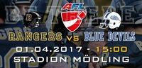 Austrian Football League: AFC Rangers vs Cineplexx Blue Devils@Stadion Mödling
