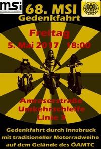 68. MSI - Motorradgedenkfahrt durch Innsbruck@Ende Linie 3