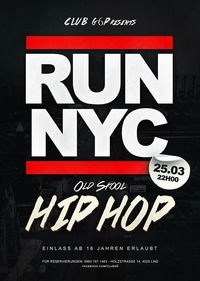RUN NYC - Old Skool HIP HOP@Club G6