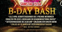B-Day Bash April 2017@Eventhouse Freilassing