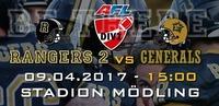 Austrian Football Division 2: AFC Rangers 2 vs. Maribor Generals@Stadion Mödling